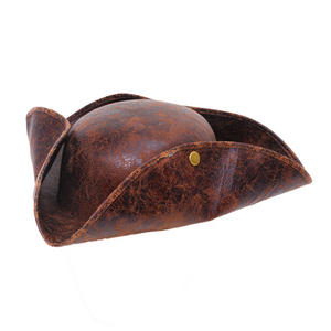 Adult Brown Antique Look Tricorn Hat Pirate Dick Turpin Fancy Dress Prop