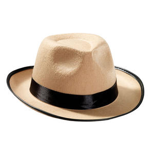 Adult Beige Fedora Detective Great Gatsby 1920S Fancy Dress Costume Accessory