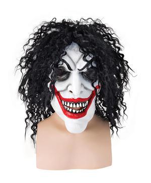 Adult Smiling Man Mask  Psycho Batman Joker Halloween Fancy Dress Accessory
