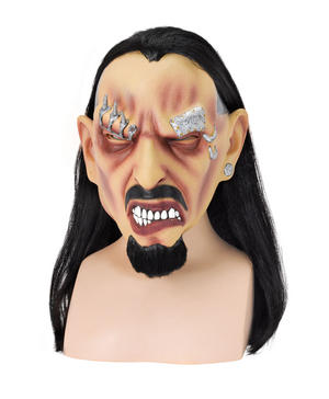 Adult Pierced Freak Mask Punk Gothic Tattoo Man Halloween Fancy Dress Accessory