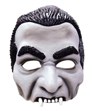 Adult Dracula Half Face Mask Vampire Horror Halloween Fancy Dress Accessory