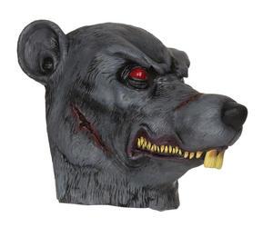 Adult Zombie Rat Rubber Mask Fancy Psycho Animal Halloween Fancy Dress Accessory