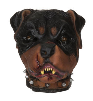 Adult Zombie Rottweiler Mask Living Dead Psycho Dog Halloween Fancy Dress Accessory
