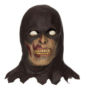 Adult Zombie Executioner Mask Scary Grim Reaper Halloween Fancy Dress Accessory