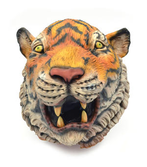 Adult Realistic Tiger Mask Jungle Book Big Cat Animal Fancy Dress Accessory
