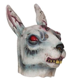 Adult Zombie Rabbit Mask Living Dead Psycho Bunny Halloween Fancy Dress Accessory