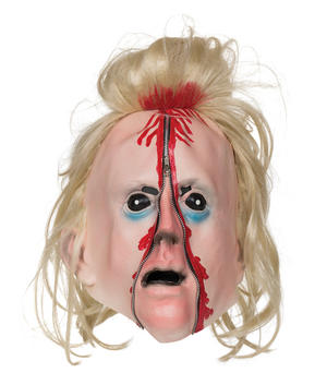Adult Bloody Zip Scary Man Face Mask Halloween Fancy Dress Accessory