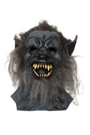 Adult Grey Hairy Wolf Mask Werewolf Halloween Horror Fancy Dress Accessory