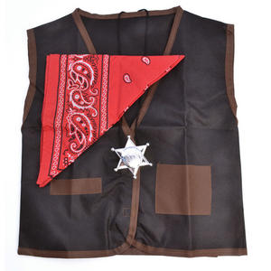 Childrens Cowboy Set Waistcoat Bandana Fancy Dress Costume Wild West Fancy Dress Outfit Kit Set