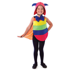 Childrens Caterpillar Dress Up Kit Fancy Dress Costume Headpiece & Bodysuit