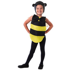 Childrens Bumble Bee Dress Up Kit Fancy Dress Costume Headpiece Wings & Bodysuit