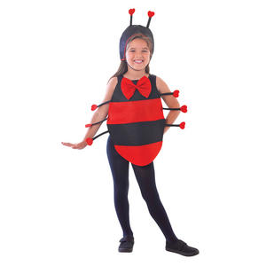Childrens Kids Ladybird Dress Up Kit Fancy Dress Costume Set Ladbug 5-12 Yrs