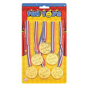 6 Gold Medals School Sports Day Winners Medals Olympics Fancy Dress