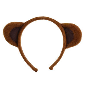 Brown Animal Ears On Headband Teddy Bear Facy Dress Costume Prop