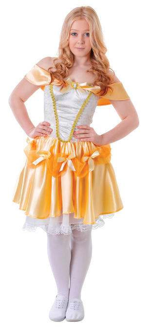 Ladies Beauty & The Beast Belle Fancy Dress Costume Disney Character Outfit New