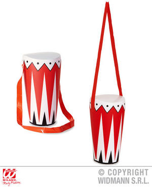 Inflatable Drum 36Cm Marching Band Instrument Fancy Dress Accessory Prop