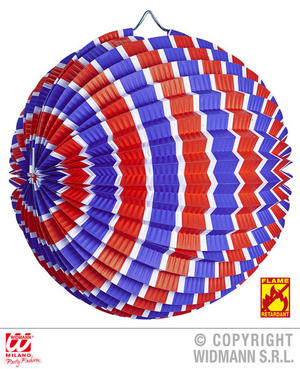 Blue White Red Striped Paper Ball Carnival Party Decoration Accessory