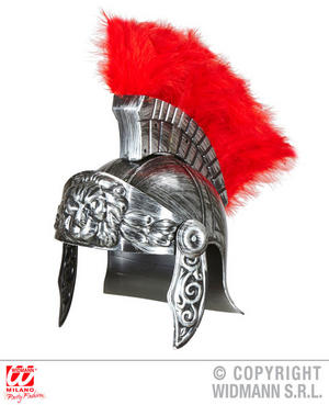 Antiquated Silver Roman Helmet Sparticus Caesar Gladiator Fancy Dress Accessory