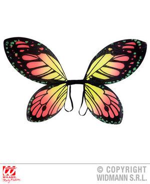 Childs Black Orange Yellow Butterfly Wings Inscet Fairy Fancy Dress Accessory