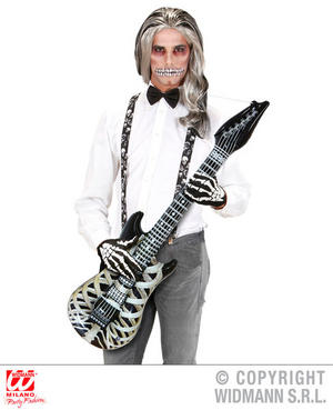 Inflatable Skeleton Guitair Glam Rock Metal Halloween Fancy Dress Accessory