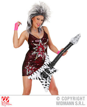 Inflatable Rock Star Zebra Guitar Singer Fancy Dress Accessory Prop 92Cm