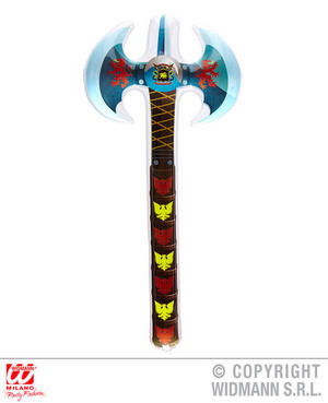 Inflatable Double Axe Halloween Viking Fancy Dress Party Decoration Prop 70Cm
