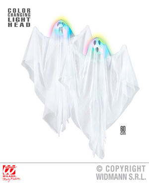 Colour Changing Ghost Halloween Fancy Dress Party Decoration Prop 60Cm
