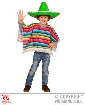 Childs Kids Mexican Poncho Amigo Wild West Fiesta Fancy Dress Accessory