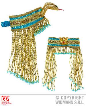 Beaded Egyptian Headpiece Cleopatra Ancient Egypt Fancy Dress Accessory