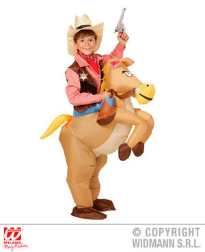 Childs Kids Inflatable Cowboy Fancy Dress Costume Wild West Outfit