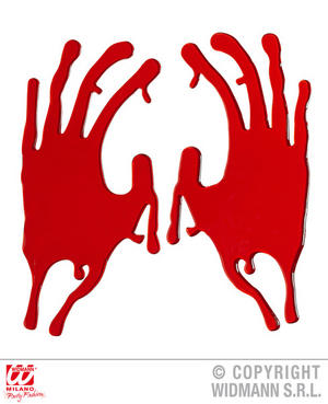 Bloody Hand Window Stickers Zombie Halloween Fancy Dress Party Decoration Prop