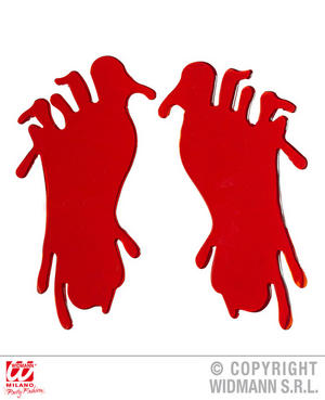Bloody Foot Window Stickers Zombie Halloween Fancy Dress Party Decoration Prop