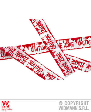 Bloody Caution Zombie Tape Halloween Fancy Dress Party Decoration Prop 7.20M