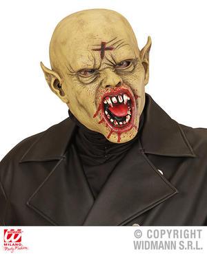 Bald Vampire Mask Scary Dracula Halloween Fancy Dress Accessory