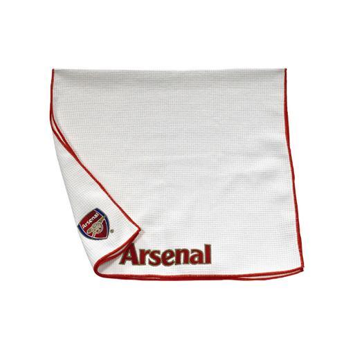 Sports Direct Arsenal Towel: Arsenal Fc Aqualock Caddy Towel White & Red Football Team