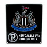 Newcastle United Fc No Parking Sign Black Fan Only Football Driveway Garage New