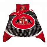 Sunderland Fc Duvet Set Bullseye Red & Black Football Single Bedding Bed New