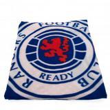 Rangers Fc Fleece Blanket Blue & White Bullseye Soft Throw Bed Sofa Football New