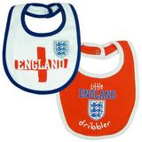 England Football Team FA 2 Pack Bibs Red & White St Georges Baby Crest Flag New