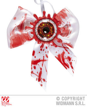 Bloody Eye Bow Tie Psycho Killer Halloween Fancy Dress Accessory