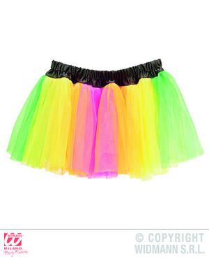 Neon Multicolour Tutu Rave 80S 90S Party Gay Pride Fancy Dress Accessory