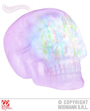Colour Change Skull Trick Treat Halloween Fancy Dress Party Decoration Prop 32Cm
