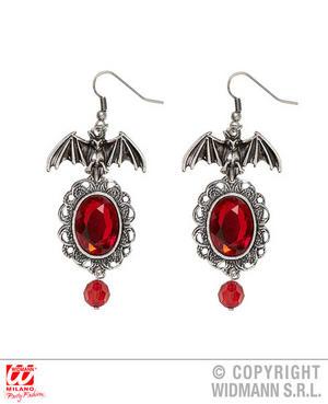 Bat Earrings Witch Vampire Halloween Fancy Dress Jewellery Accessory