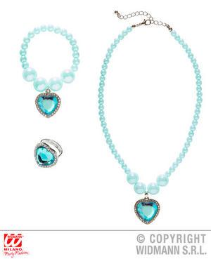 Azure Princess Jewellery Set Fairy Tale Royal Fancy Dress Jewellery Accessory