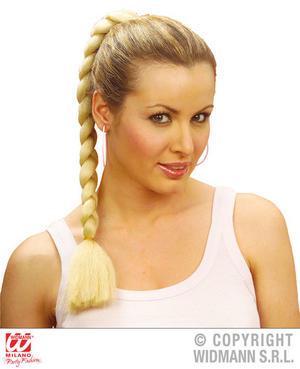 Blonde Plaited Pony Tale Hair Extension Lara Croft Fancy Dress Accessory