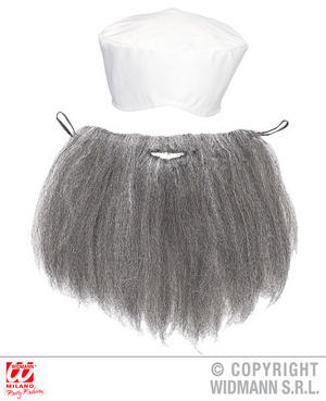 Arab Turban & Beard Middle Eat Arabian Fancy Dress Accessory