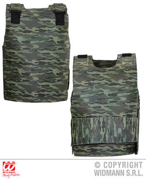Childrens Camo Bulletproof Vest Military Army Soldier Fancy Dress Costume Outfit