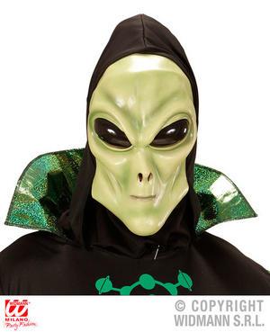 Alien Hooded Mask With Bubble Eyes Space Ufo Halloween Fancy Dress Accessory