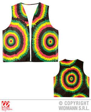 Jamaican Vest Rasta Caribbean Beach Party Hippy Festival Fancy Dress Accessory
