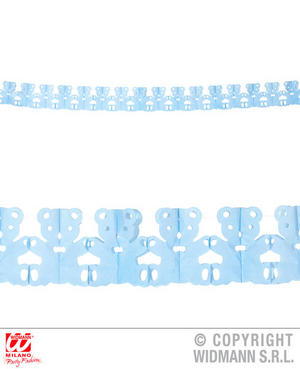 Azure Teddy Bear Garland Boy Baby Shower Mum To Be Party Decoration 3M